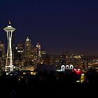 After Dark in Downtown Seattle by Barb White