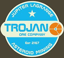 Trojan Asteroid Mining by Red-Ape