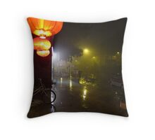 Beijing Streetscape by Lily Throw Pillow