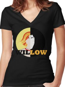 The Many Faces Of Willow Women's Fitted V-Neck T-Shirt