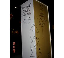 nyc street graffiti Photographic Print