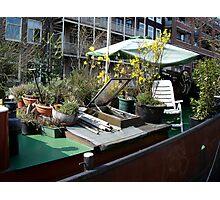 houseboat amsterdam Photographic Print
