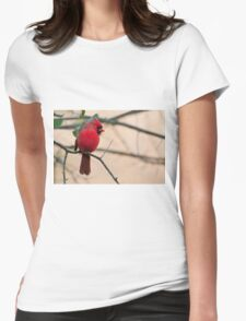 Northern Cardinal Womens Fitted T-Shirt