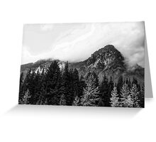 Crossing Snoqualmie Pass Greeting Card