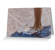 feet in the water Greeting Card