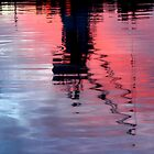 reflecting on the floating dock by Sandy Sutton