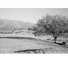 Black and White Sparse Desert Photographic Print