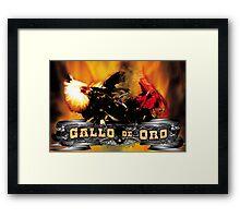 Gallo De Oro Framed Print