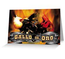 Gallo De Oro Greeting Card