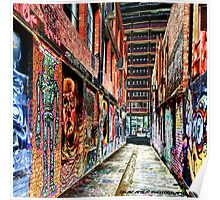 Melbourne Street Art - Downtown Alley Poster