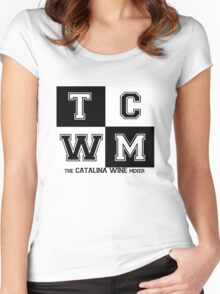 The Catalina Wine Mixer #2 - nineVOLT Band Collaboration Women's Fitted Scoop T-Shirt