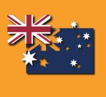 Layered Australian Flag T-Shirt by Craig Stronner