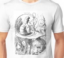 Cannabis and magic mushrooms in wonderland Unisex T-Shirt