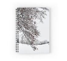 Beautiful White Snow Spiral Notebook