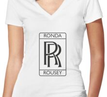 Ronda Rousey Women's Fitted V-Neck T-Shirt