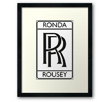Ronda Rousey Framed Print
