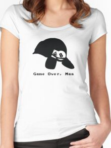 Game Over, Man - Black Women's Fitted Scoop T-Shirt