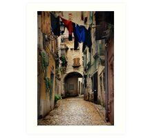 Street in Piran Art Print