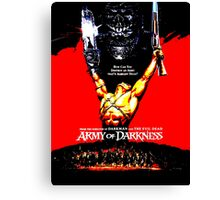Army Of Darkness 80's Red and Black Design Canvas Print