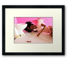 Post night out Barbie Framed Print