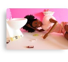 Post night out Barbie Canvas Print
