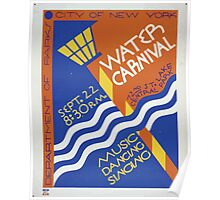 WPA United States Government Work Project Administration Poster 0106 Water Carnival City New York Music Dancing Singing Poster