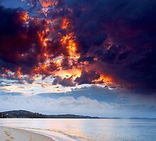 Fire In The Sky by Centralian Images