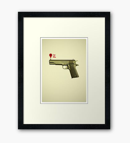 Situation Map Framed Print