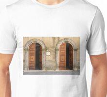 No 1 and No 2, San Casciano dei Bagni, Tuscany, Italy Unisex T-Shirt