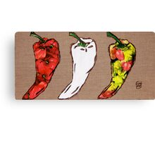 cool hot chilly peppers Canvas Print