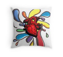 Splodge Heart Throw Pillow