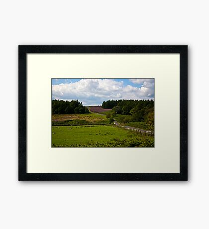 Moors Road Framed Print