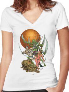John Carter of Mars Women's Fitted V-Neck T-Shirt