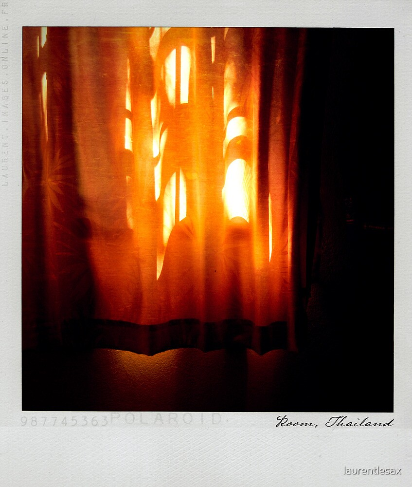 Curtain 2 Polaroïd by Laurent Hunziker