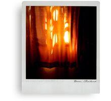 Curtain 2 Polaroïd Canvas Print