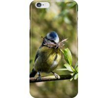 Blue Tit with nesting material 4. iPhone Case/Skin