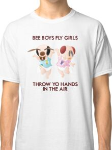 Bee Boys Fly Girls (with text) Classic T-Shirt