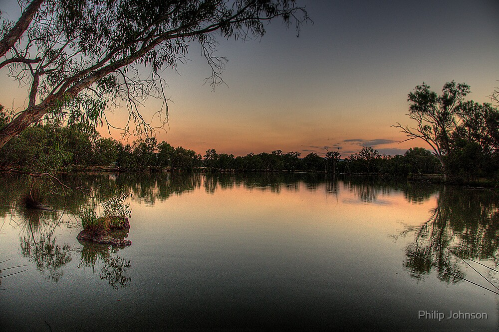 Meditation - Murray River, NSW Australia - The HDR Experience by Philip Johnson