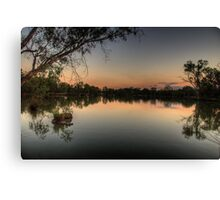 Meditation - Murray River, NSW Australia - The HDR Experience Canvas Print