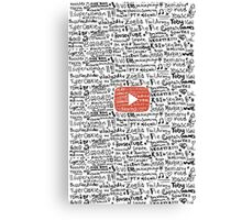 Youtube Canvas Print