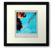 Smiling pool Polaroïd Framed Print