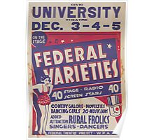 WPA United States Government Work Project Administration Poster 0436 Civic University Theatre Federal Varieties Rural Frolics Poster
