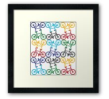 Multicolour Bicycle Print Framed Print