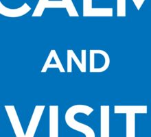 Keep Calm and Visit JW.org (Blue Background) Sticker