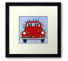 Festive Lights Red Bug Framed Print