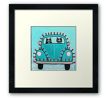 Festive Lights Teal Bug Framed Print