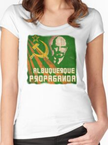 Albuquerque Propaganda - iPhone, T-Shirts and Prints Women's Fitted Scoop T-Shirt