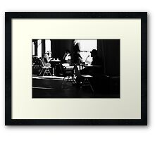Latte outside ... Framed Print
