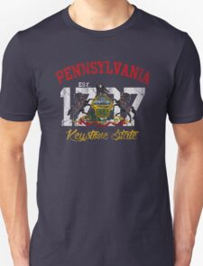 Vintage Pennsylvania Flag Keystone State Unisex T-Shirt