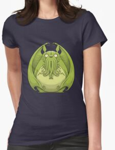 Totoro Cthulhu Womens Fitted T-Shirt